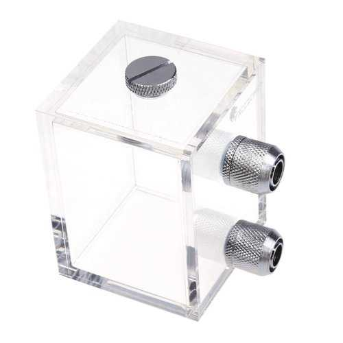 G1/4 200ml Acrylic Water Tank Water Cooling Reservoir with Fittings for PC Water Cooling System