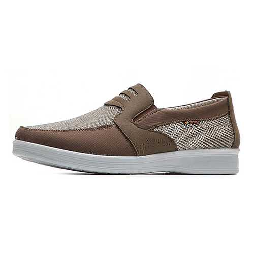 Men Breathable Old Peking Style Slip On Mesh Flats Loafers