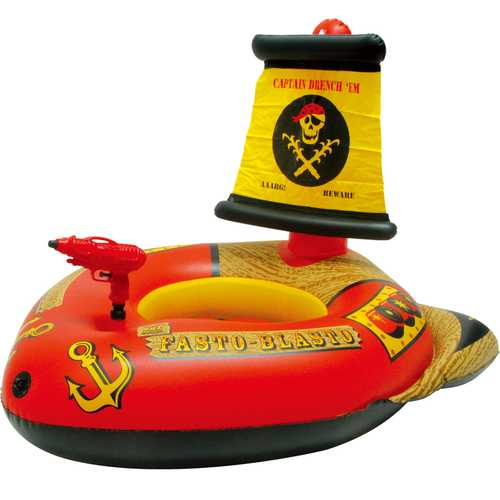 Pirate Water Inflatable Boat Floating Row Bed Floating Ride Water Gun