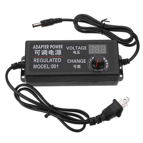 AC DC Adjustable Power Adapter Supply Plug 3-24V 2A 48W Speed Control Volt Display