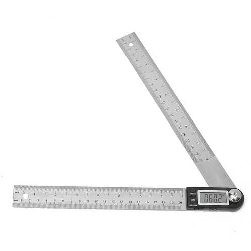 200MM Stainless Steel Electronic Ruler Scale Angle Calipers Digital Display
