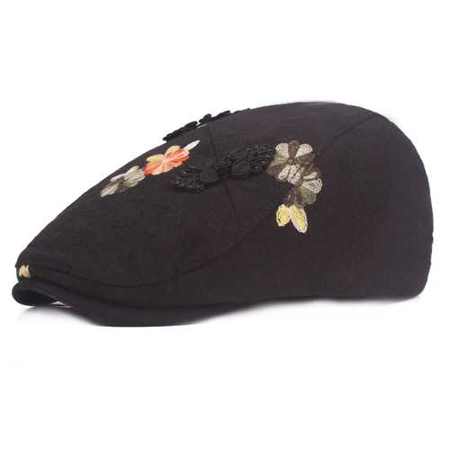 Embroidered Beret Caps Cool Outdoor Visor Newsboy Hunting Ha
