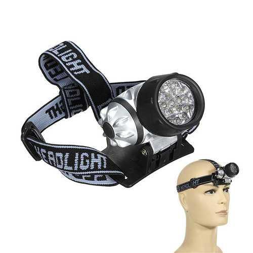 BIKIGHT 19-LED 4 Modes Bike Waterproof Headlamp For Fishing Walking Camping Reading 3 x AAA