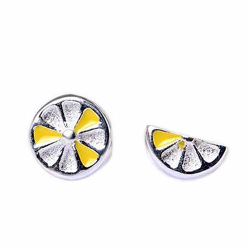 925 Sterling Silver Asymmetric Piercing Fruit Earring