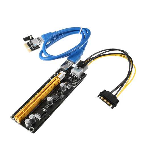 USB 3.0 PCI-E Riser Card Extender Adapter PCI-E Expansion Card Mining Cable