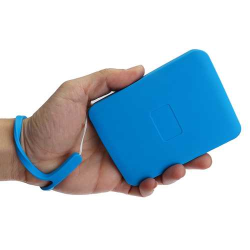 1T 2T Hard Drive Silicone Protect Case With Hanging Rope Hard Drive Enclosure