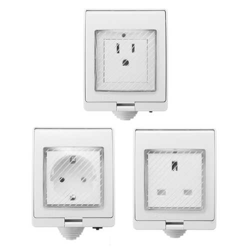 AC 90-250V Waterproof Charger Remote Control Switch Smart WiFi Socket Power Outlet Alexa Echo Google