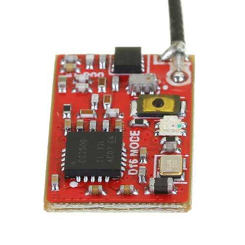 0.9g Super Mini AC900 Dual Mode Receiver Compatible Frsky D16 & Futaba S-FHSS RX Built-in LNA Chip