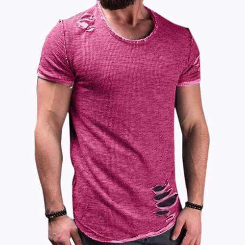 Mens Fashion Crew Neck Slim S-4XL Causal T-shirts