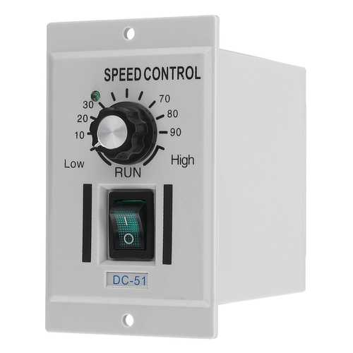AC 220V To DC 0-90V Rotary Knob Voltage Motor Speed Controller Variable Stepless Speed