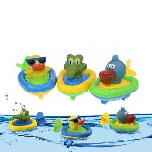 Cikoo Wind Up Bath Toy Pull Along Beach Play Toys Funny Amphibious Animal