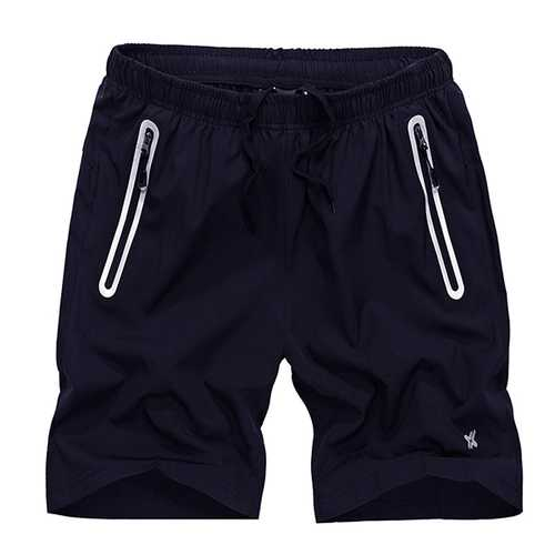 Men's Slim Fit Elastic Drawstring Sports Shorts