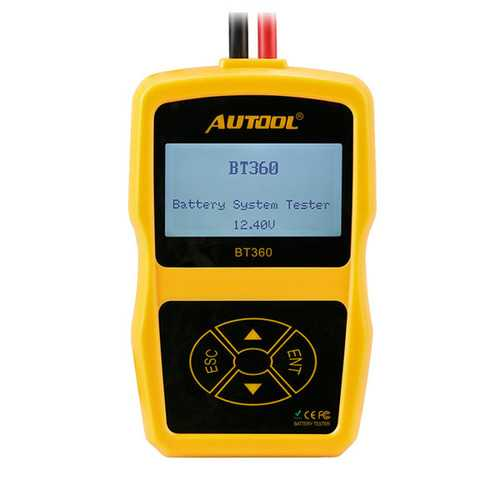 AUTOOL BT360 Digital Analyzer Multi-Languages BAD Cell Test Tools Car Battery Tester