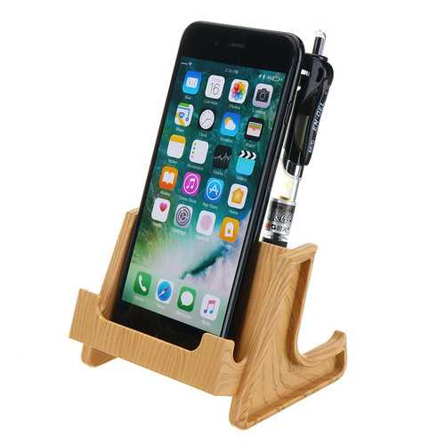 Bakeey Charging Anti-slip Pen Stand Desktop Phone Holder for iPhone Xiaomi Mobile Phone