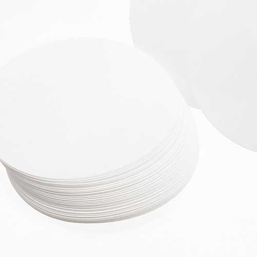 100Pcs 12.5cm Diamter Qualitative Filter Paper Circle Sheet Medium Speed 15-20um