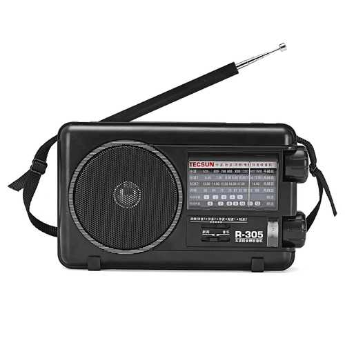 Tecsun R-305 Full Band Digital FM MW SW TV Bands Stereo Radio Receiver