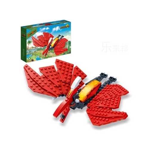 BanBao Pterosaur Jurassic Dinosaur World Park Animal Blocks Toys Building Bricks Model Toys