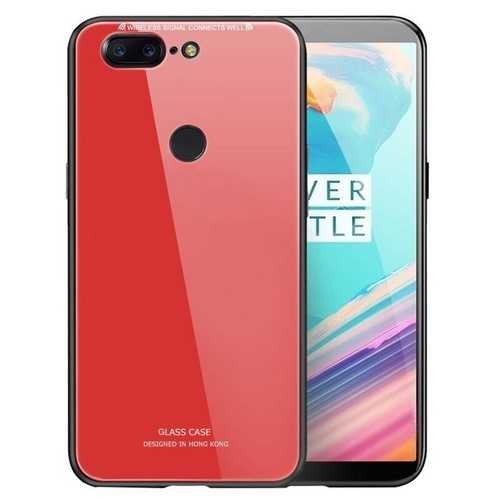 Bakeey™ Tempered Glass Mirror Back Cover Soft TPU Frame Protective Case for OnePlus 5T