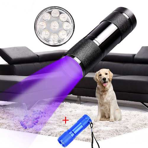 Black+Blue XANES U01 9x LED Violet Light Multifunction UV LED Flashlight Fluorescence Detection Pen