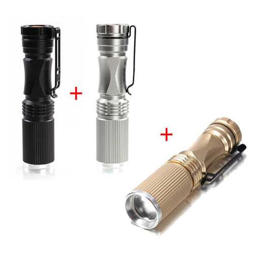 Meco XPE-Q5 600 Lumen 7W Zoomable LED Flashlight (Contain 3 Colors)