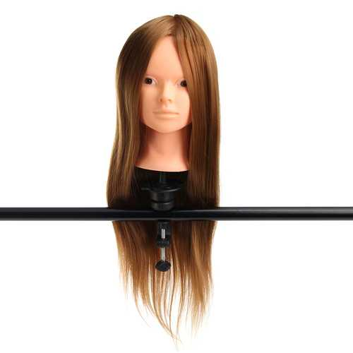 "24"" 30% Real Hair Training Mannequin Head Model Makeup"