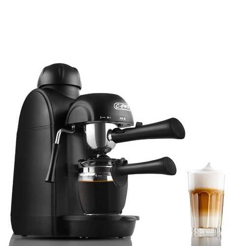C-pot 5 Bar Pressure Personal Espresso Coffee Machine Maker Steam Espresso System with Milk Frother