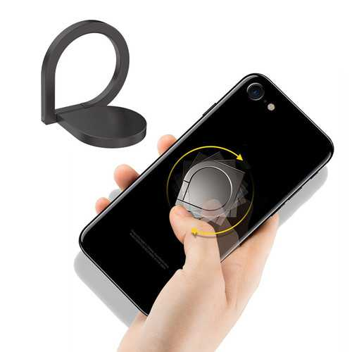 Bakeey Metal Fidget Spinner 360 Degree Rotation Finger Ring Phone Holder Desktop Stand for Xiaomi