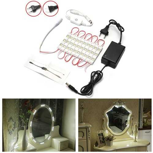 6W SMD5630 Dimmable Waterproof White 30 LED Module Strip Light Cabinet Mirror Lamp Kit AC110-240V