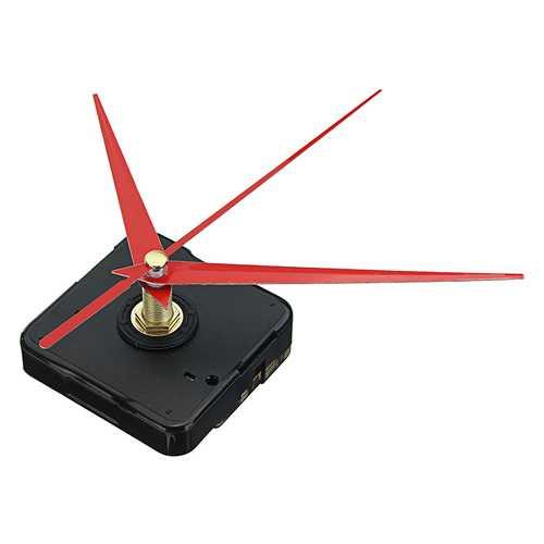 10pcs 20mm Shaft Length DIY Red Triangle Hands Silent Quartz Wall Clock Movement Mechanism For Replacement