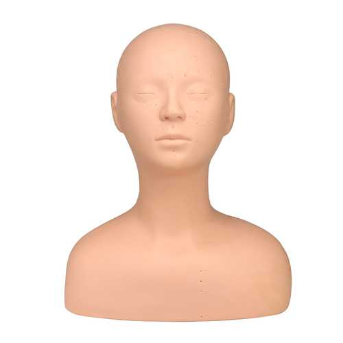 Soft Acupoint Training Mannequin Head Model Acupuncture