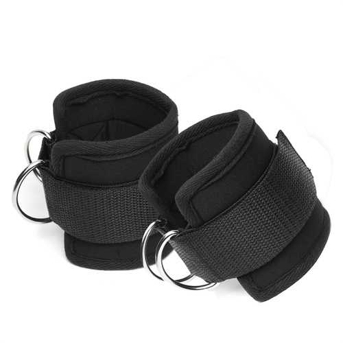 1 Pair Crossfit Ankle Support Cuffs Strap Resistance Band