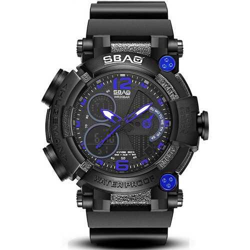 SBAO S-8019-2 Luminous Alarm Men Dual Display Digital Watch