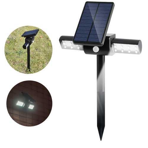 1.5W Solar LED PIR Motion Sensor Lawn Light Waterproof Outdoor Garden Wall Landscape Spotlight