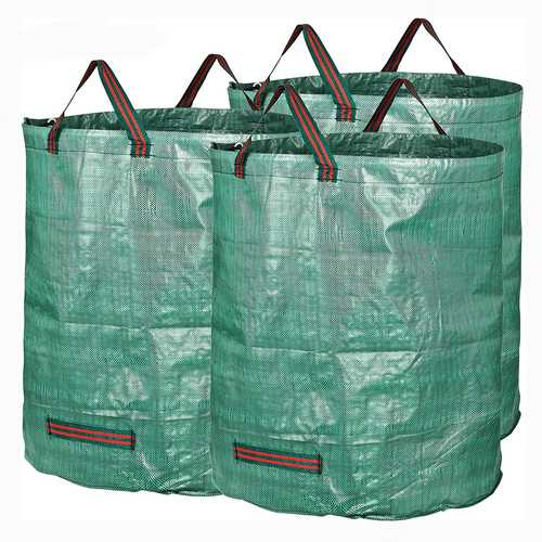 3 Packs Garden Waste Bags 72 Gallons Branch Leaves Collecting Housekeeping Storage Baskets