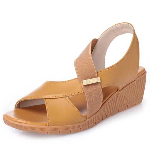 Large Size Wedge Casual Fish Mouth Sandals