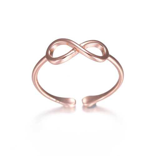 Rose Gold Silver Ring Simple Casual Wear Fashion Open Ring