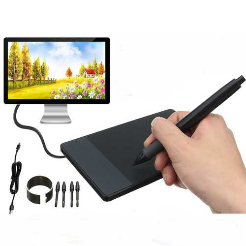 "Huion 420 4"" x 2.23"" USB Art Design Graphics Tablet Drawing Pad with Digital Pen"