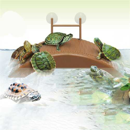 Aquarium Tank Turtle Reptile Basking Terrace Island Platform House Dock Pier Decorations