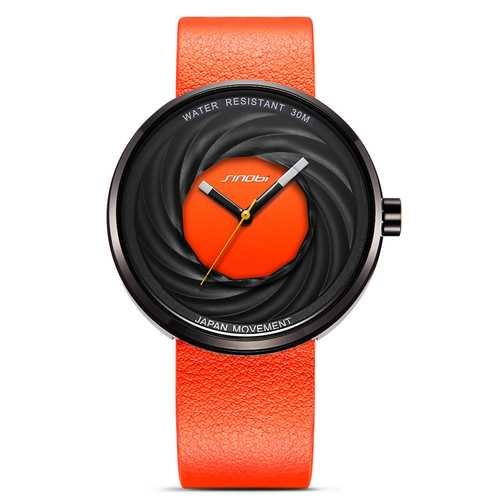 SINOBI 9683 Unisex Fashion Genuine Leather Creative Watches
