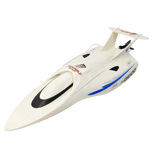 Flytec 3372 40MHZ White Rc Boat 25km/h Speed Airship RTR Toys With Battery