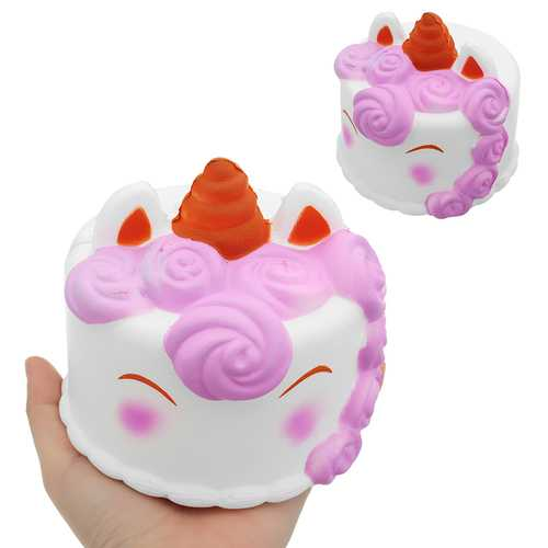 Unicorn Cake Squishy 12*12CM 118G Slow Rising Collection Gift Soft Toy