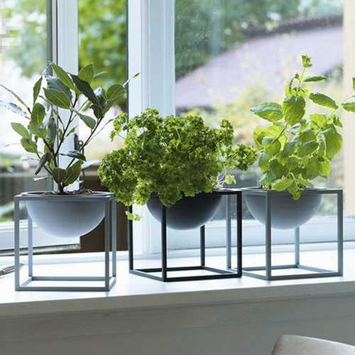 Home Decorations Flower Pot Bonsai Display Rack Holder Plant Metal Pot With Stand