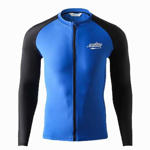 Man Swimsuit  Long Sleeve Sun Protection Wetsuit Swimwear
