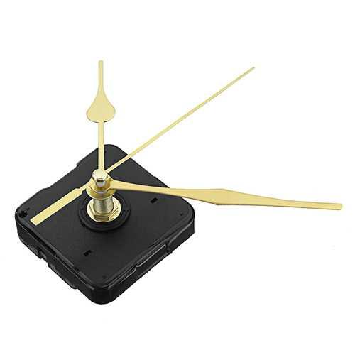 3pcs 20mm Shaft Length Gold Hands Quartz Wall Clock Silent Movement Mechanism Repair Parts