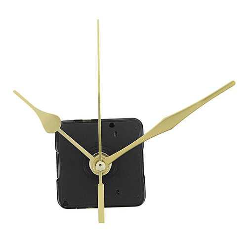 10pcs 20mm Shaft Length Gold Hands Quartz Wall Clock Silent Movement Mechanism Repair Parts