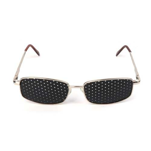 Metal Frame Pinhole Glasses Eyewear Eyesight Vision Improve