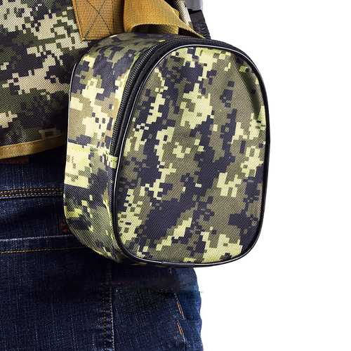 LEO Oxford Fabric Camo Black Portable Fishing Bag Accessories Outdoor Waist Bag Storage Pouch