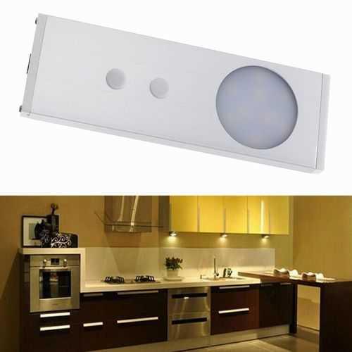 1.8W 9 LED IR Infrared Motion Cabinet Light Sensor Night Lamp Warm White/White DC12V