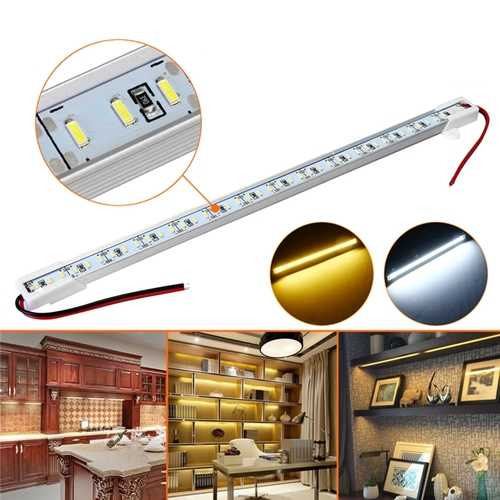 30CM SMD4014 7W Non-waterproof LED Rigid Strip Bar Light for Cabinet Kitchen Bookshelf DC12V