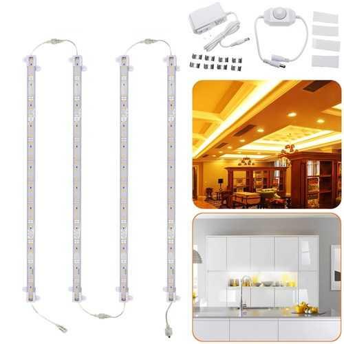 4PCS 30CM 30W 5630 Transparent Cover LED Rigid Strip Light Cabinet Lamp Kitchen Showcase AC110-240V